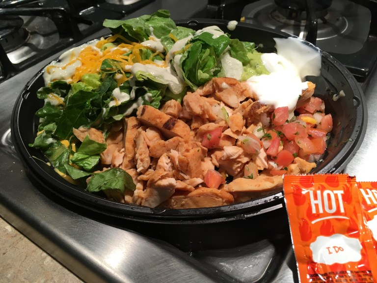 Keto Taco Bell Power Chicken Bowl No Beans No Rice