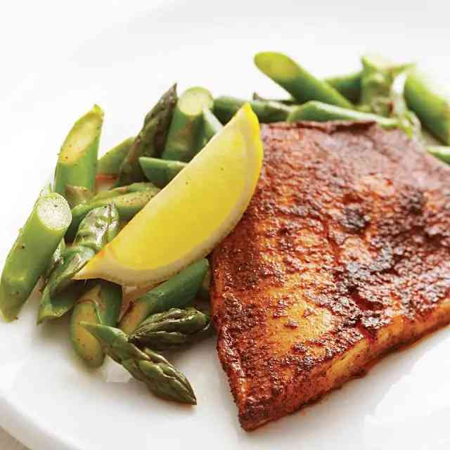 Chili-Rubbed Tilapia With Asparagus