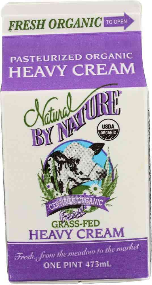 Natural By Nature Organic Grass-Fed Heavy Cream
