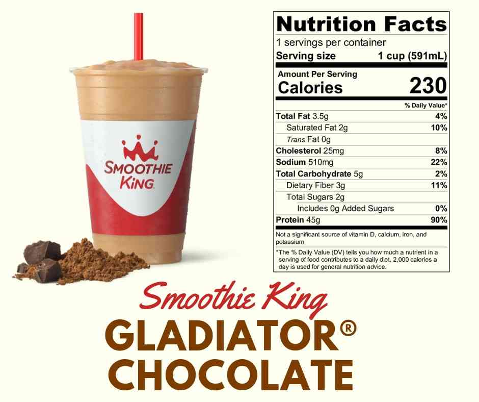 Smoothie King - Gladiator Chocolate