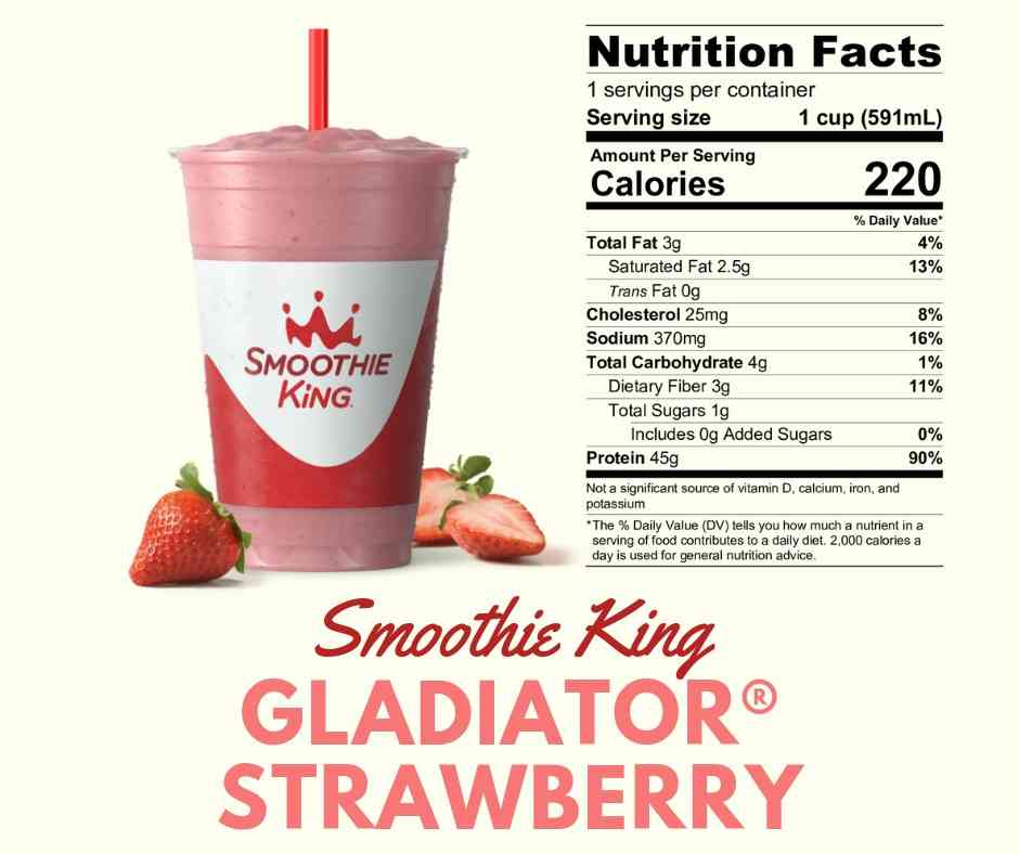 Smoothie King - Gladiator Strawberry