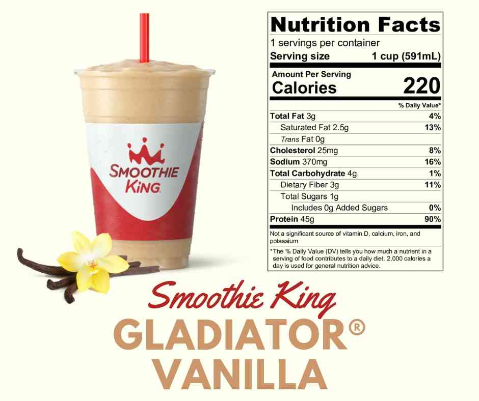 Smoothie King - Gladiator Vanilla