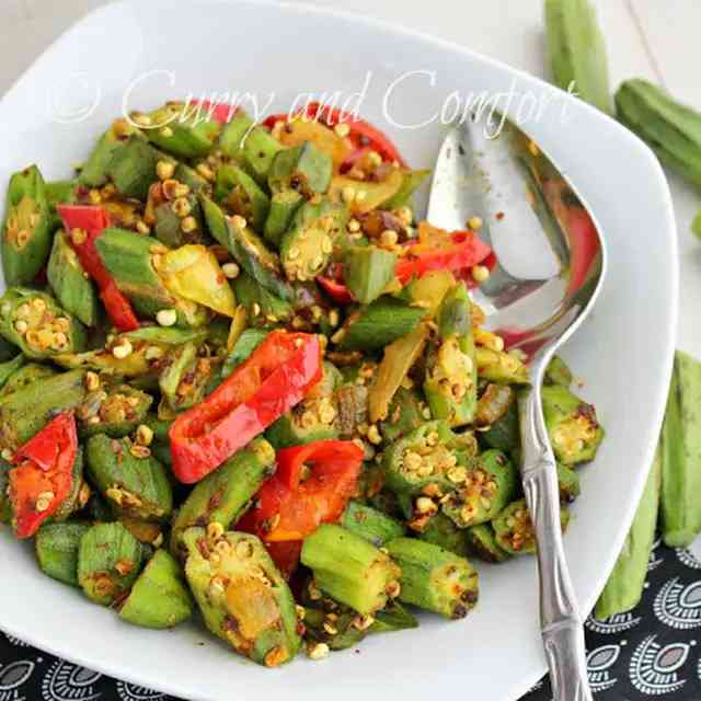 Spicy Curried Okra