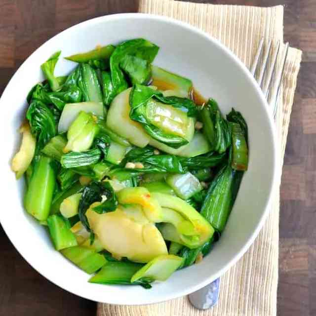 Spicy Sesame Ginger Bok Choy