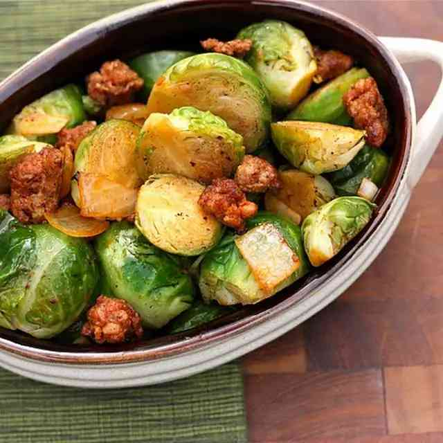 Brussels Sprouts w/ Chorizo