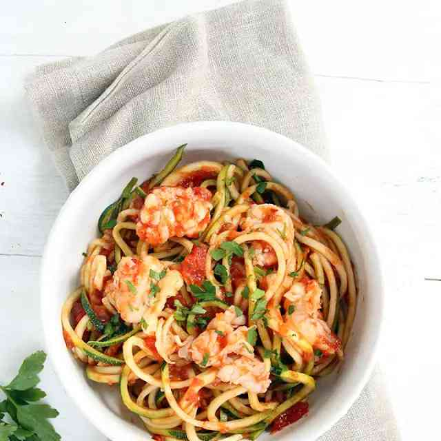 Lobster With Zucchini Noodles